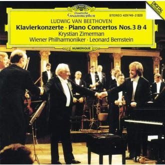 베토벤 : 피아노 협주곡 3, 4번 / 크리스티안 지메르만, 레너드 번스타인