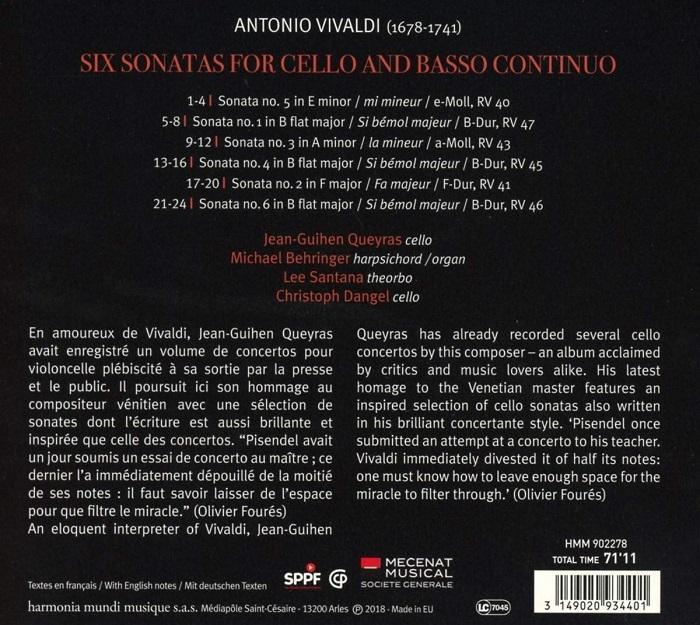 비발디 : 첼로와 통주저음을 위한 6개의 소나타